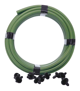 Picture of 20-ft Coil of 1/4-in Green Vinyl with 10 Couplers