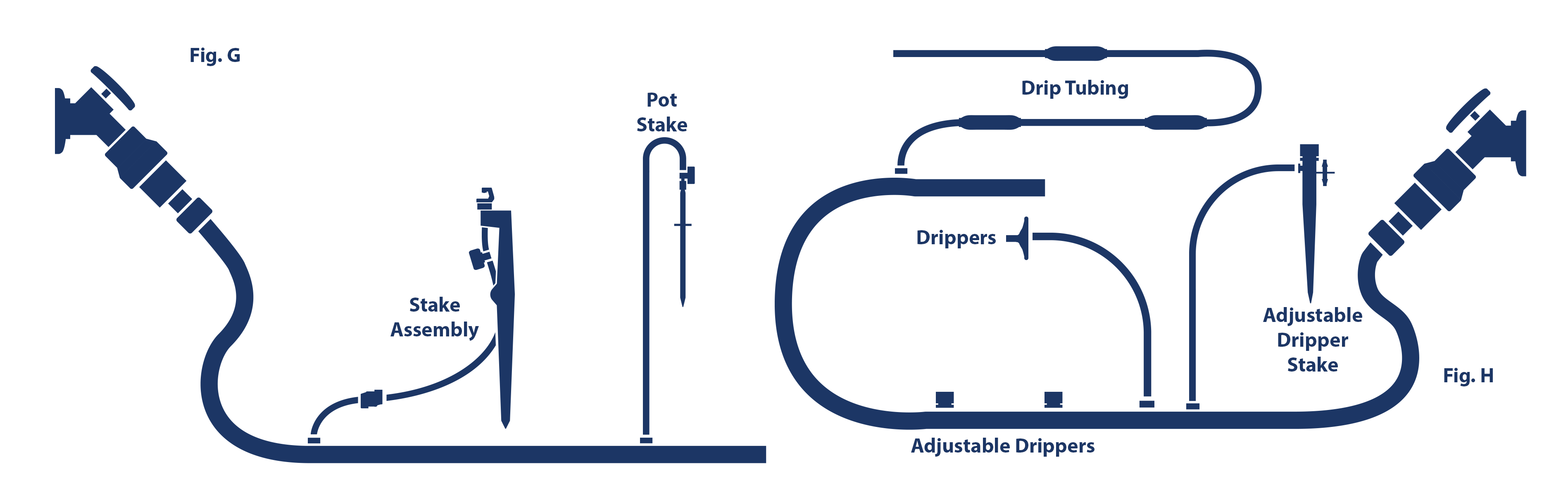 Mister Landscaper Drip Irrigation And Micro Spray Login Product Tan America Timer Wiring Diagram With 1 4 In Vinyl Tubing Drippers Adjustable Dripper Stakes Pot Can Be Run Fig I
