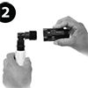 Picture of 1/2-in PVC to 3/4-in Hose Thread Adapter (Qty 1)